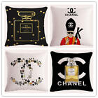 Nice Perfume Cushion Cover Customize  Printed Square Decorative Pillow Cover