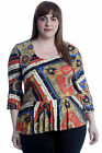 New Womens Plus Size Top Ladies Peplum Frill Bell Sleeve Tunic Blouse Key Chain