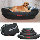 Waterproof Pet Bed Washable Heavy Duty Dog Bed &Pillow fr Large Medium Small Dog