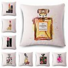 Perfume Lipstick Nice Cushion Cover Customize Square Decorative Pillow Cover