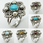 Gemstone Of Your Choice ! 925 Sterling Silver LARIMAR, PEARL & Other Stones Ring