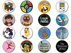 RETRO KIDS 3 - VARIOUS DESIGNS - Button Badge 25mm / 1 inch 60s 70s 80s 90s TV