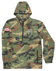 HUF WORLDWIDE CLASSIC H ANORAK JACKET PULLOVER CAMOUFLAGE FOURTH OF JULY MENS
