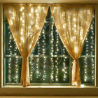 6x3M 600LED Window Curtain Icicle String Fairy Lights Outdoor Wedding Party Xmas