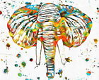 121195 Elephant Head Paint best Decor WALL PRINT POSTER UK