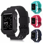 Rugged Shockproof Rubber Case w/ Strap for Apple Watch 1&2&3 Series (38/42mm)