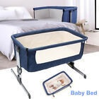Convertible Baby Crib Cot Kid Toddler Bedding Set Infant Newborn Cradle Basket