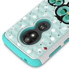 For Motorola Moto E5 Play / Moto E5 Cruise Case Diamond Bling Hybrid Cover