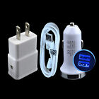 USB Cable Car Wall Charger for Samsung Galaxy S7 Active J7 J6 J4 J5 A6 S6 edge+