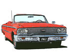 Ford 1963 Galaxie 500 XL convertible canvas art print by Richard Browne