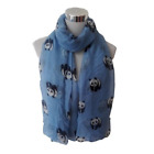 Women's Long Scarf Panda Print Soft Voile Scarf Wrap Shawl Scaf Stole 4 Colors