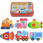 New Animal Educational Set Puzzle Baby Preschool Toys Iron Box Children Gifts W