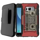 For [Samsung Galaxy S8] Holster Clip Dual Shockproof stand Case Bumper