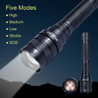 1000LM HXP-50 LED Flashlight 18650/26650 Waterproof 5-Mode Outdoor Torch Light