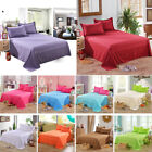 European Solid Color Flat Sheets Cotton Bed Covers Pillowcase Twin Full Queen image