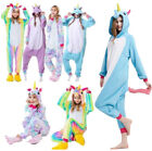 Adult/Child Soft Flannel Unicorn Pajamas Cosplay Animal Sleepwear Night Clothes