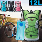 12L Bike Bicycle Cycle Hydration Pack Backpack with 2L Water Bag Outdoor Hiking