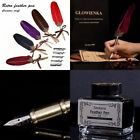 creative craft vintage quill retro carved stainless steel enamel pen signat G6A5