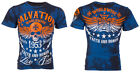 ARCHAIC by AFFLICTION T-Shirt BLACK TIDE Skull Tattoo Motorcycle Biker UFC $40 b image