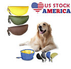 US Fabric Folding Dog Cat Bowl Food Water Fold Up Portable Travel Pet Drink JR15