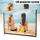 """16:9 Manual Projector Screen Outdoor Movie Theater White 60/72/84/100/120"""" high"""
