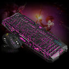 LED Gaming Wired 3Colors 2.4G keyboard Mouse Set Computer Multimedia Gamer PC