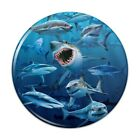 Shark Infested Waters Great White Compact Pocket Purse Hand Makeup Mirror
