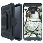 Case for Samsung Note 9, TANK Belt Clip Combo Kickstand Rugged Dual Layer Cover