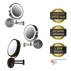 """Ovente 7"""" Wall Mount Makeup Vanity 7X Magnifying Lighted Mir"""