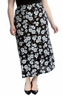 New Women Plus Size Skirt Ladies Floral Print Maxi Style Elastic Waist Soft Sale