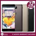 OnePlus 3T A3003 64GB/128GB Android Mobile Smartphone Gunmetal/Black Unlocked/EE