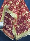 Mata Chunni 8314 Red Assorted Mata Dupatta Indian Pooja Ghar Shieno Sarees