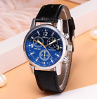 Mens Shshd Leather Faux Formal Casual Smart Analog Quartz Wrist Watch Watches <br/> ✔UK Seller✔Free 1st Class Delivery✔Same Day Dispatch✔
