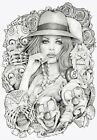 Old School Girl by Mouse Lopez Canvas or Paper Rolled Art Print