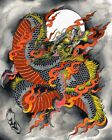 Kali Dragon by Kali Canvas or Paper Rolled Art Print