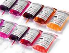 10X REUSABLE IV BLOOD BAGS HALLOWEEN PARTY HAUNTED DRINK CONTAINER DECORATION