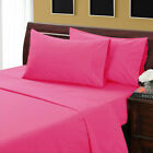 US Twin Size 1000TC 100 % Egyptian Cotton Bedding Items All Solid Color