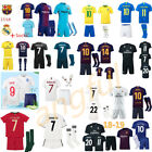 18/19 Soccer Real Madrid Football Club Short Sleeve Kids Boys Jersey Kit & Socks