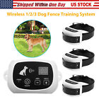 Внешний вид - Wireless Electric Pet 1-2-3 Dog Fence Containment System Transmitter Collar NEW