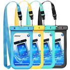 4x PVC Waterproof Case Phone Pouch Dry Bag for iPhone Plus Galaxy Google HTC LG