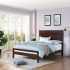 Cooper Queen-Sized Acacia Wood and Iron Bed Frame
