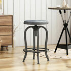 Blake Reclaimed Swiveling Barstool with Firwood Seat
