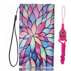 New fashion Cartoon Flower Leather slots wallet pouch case skin cover #5 Z12