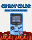 GB BOY COLOUR Console Clone 66 Games & Plays GAME BOY COLOR CARTS Backlit Screen