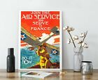 WW1+Aviation+Propaganda+Poster+-+Join+The+Air+Service%2C+Vintage+Recruiting+Poster