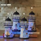 Led Light Lighthouse Maritime Ornament Beach Home Room Desk Nautical Decoration