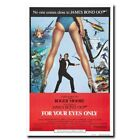 For Your Eyes Only 12x18 24x36inch 007 James Bond Movie Silk Poster Art Print $13.29 CAD on eBay