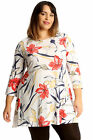 New Womens Plus Size Skater Top Ladies Floral Lilly Print Tunic Swing Style Sale