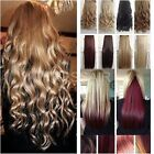 "Blonde 24"" Synthetic Clip in HAIR EXTENTION half head one piece 5 CLIPS"