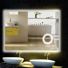 Rectangle Oval LED Illuminated Backlit Wall Bathroom Mirror Dimmer 3 Brightness